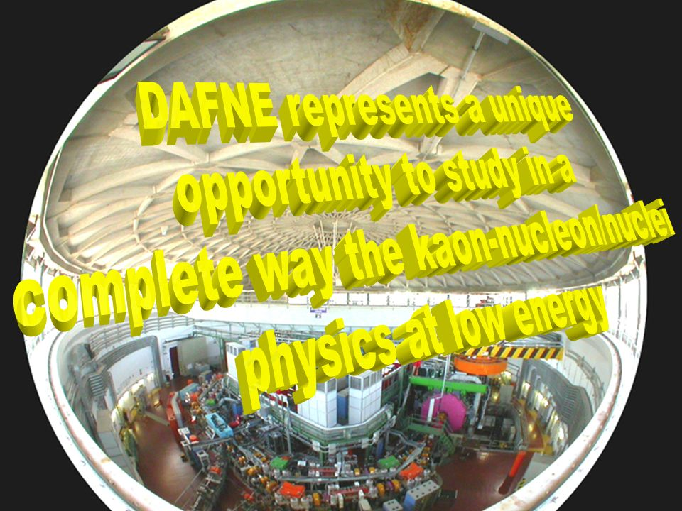 DAFNE represents a unique complete way the kaon-nucleon/nuclei