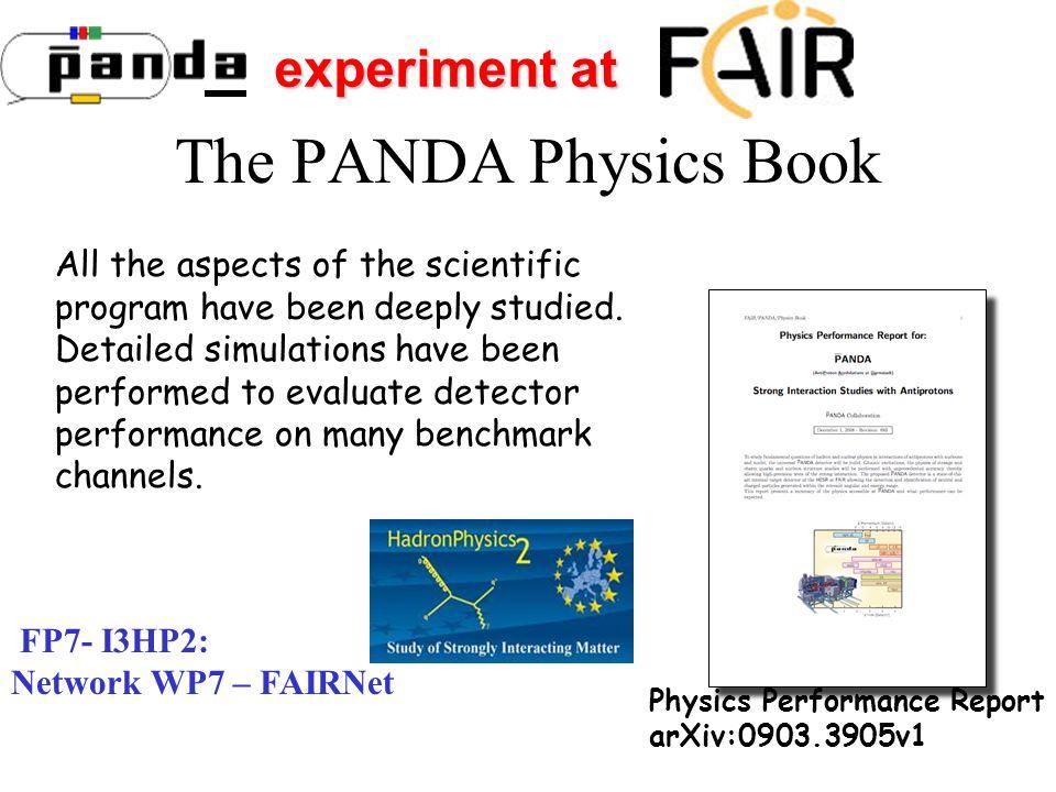 The PANDA Physics Book experiment at