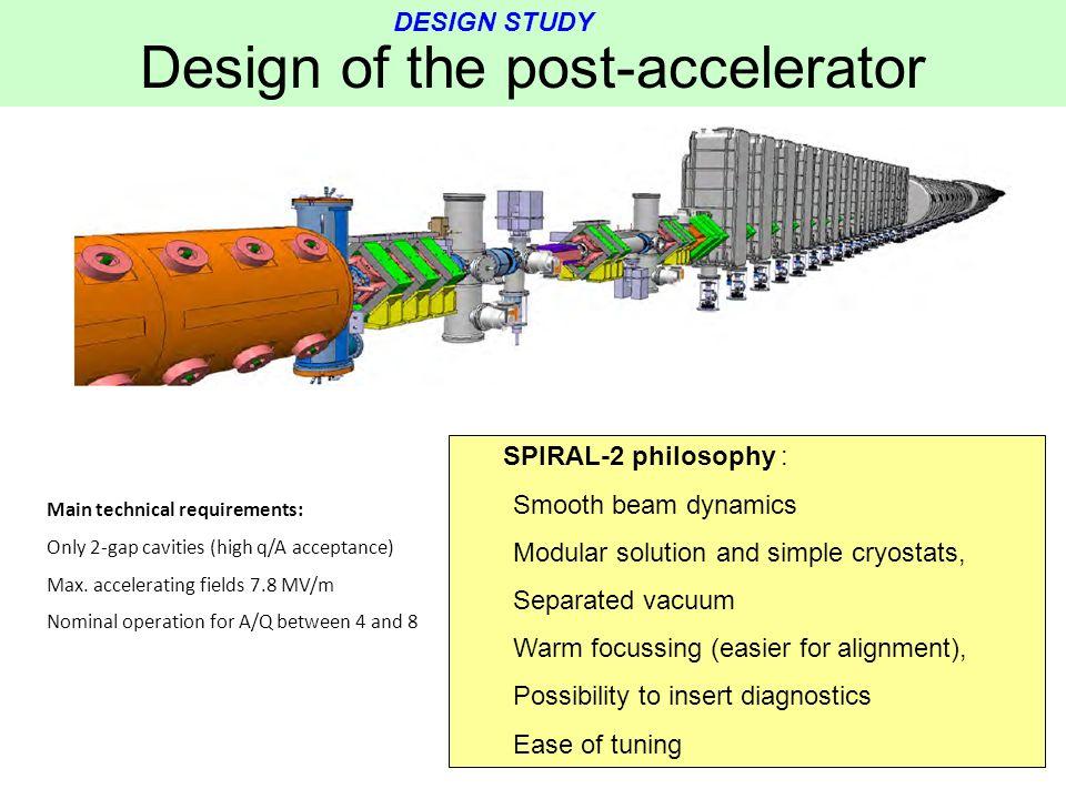 Design of the post-accelerator