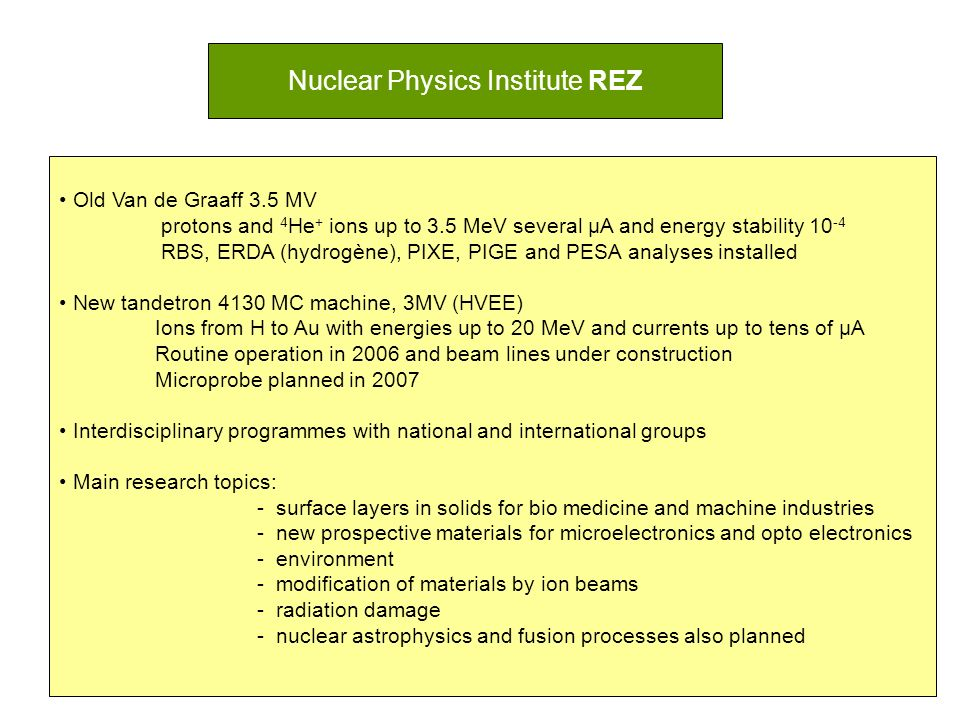 Nuclear Physics Institute REZ