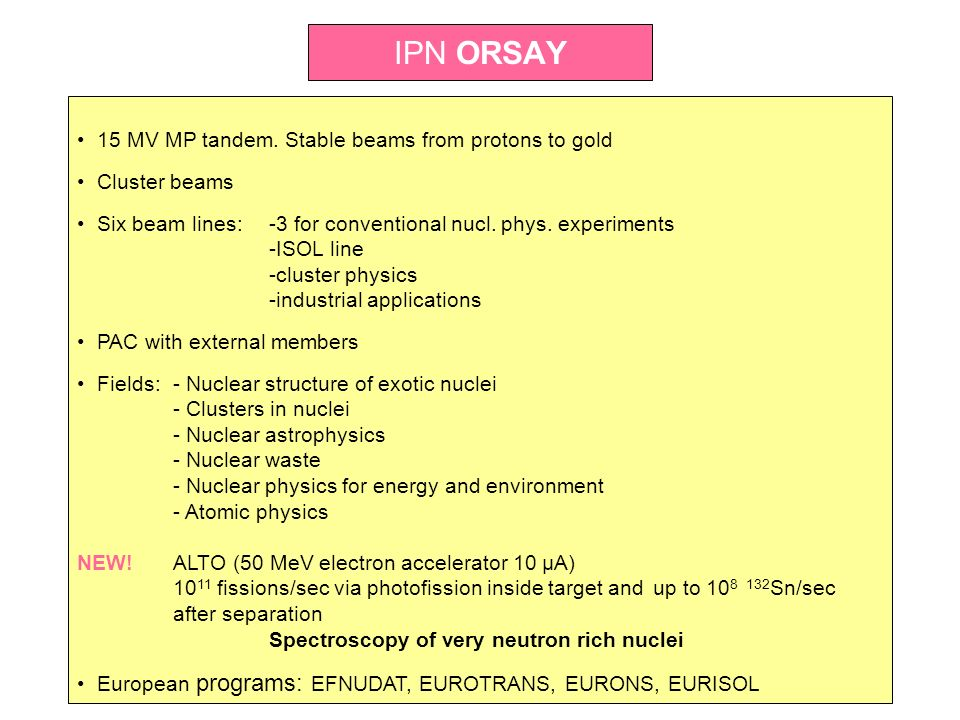 IPN ORSAY 15 MV MP tandem. Stable beams from protons to gold