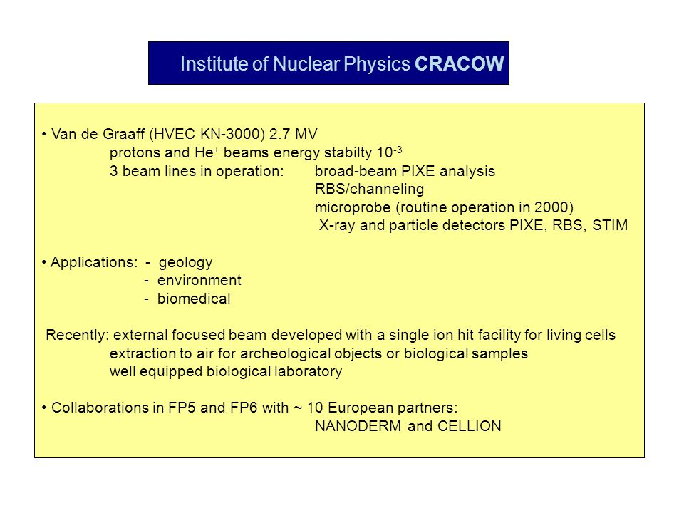 Institute of Nuclear Physics CRACOW