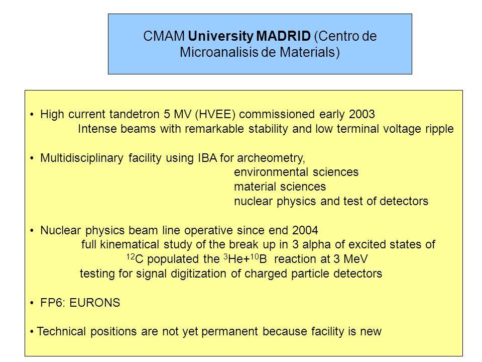 CMAM University MADRID (Centro de Microanalisis de Materials)