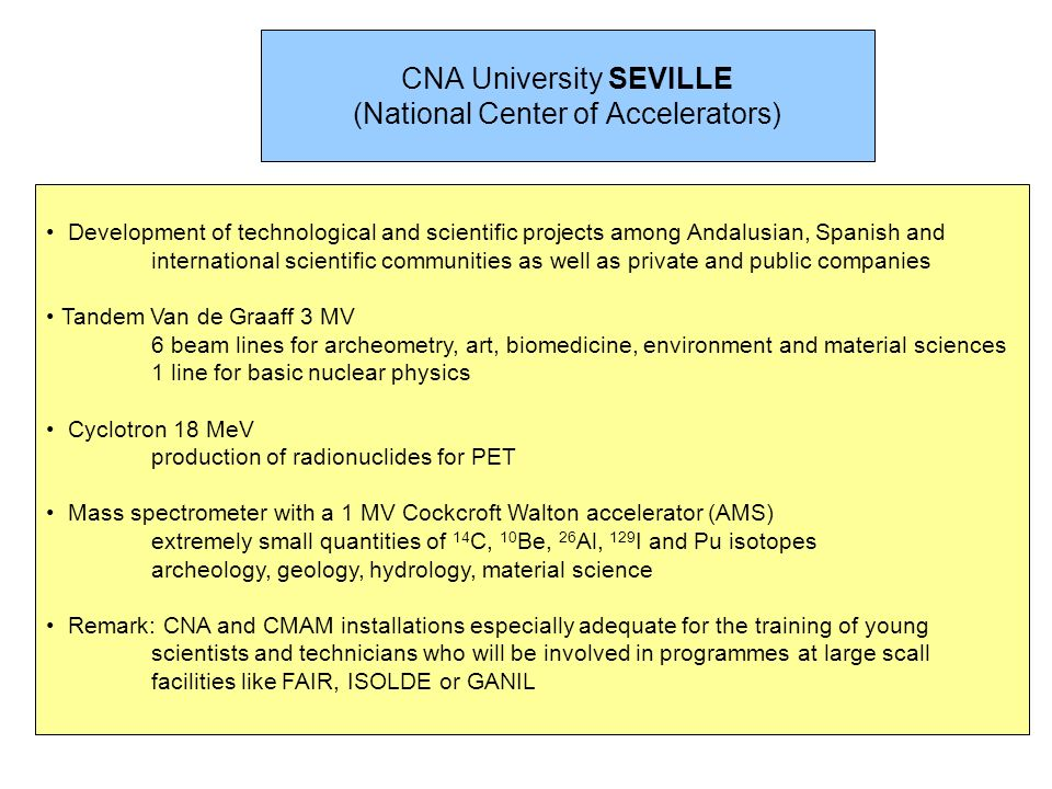 CNA University SEVILLE (National Center of Accelerators)