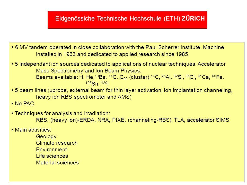 Eidgenössiche Technische Hochschule (ETH) ZÜRICH