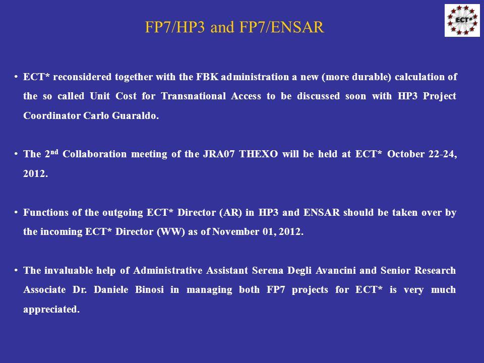 FP7/HP3 and FP7/ENSAR