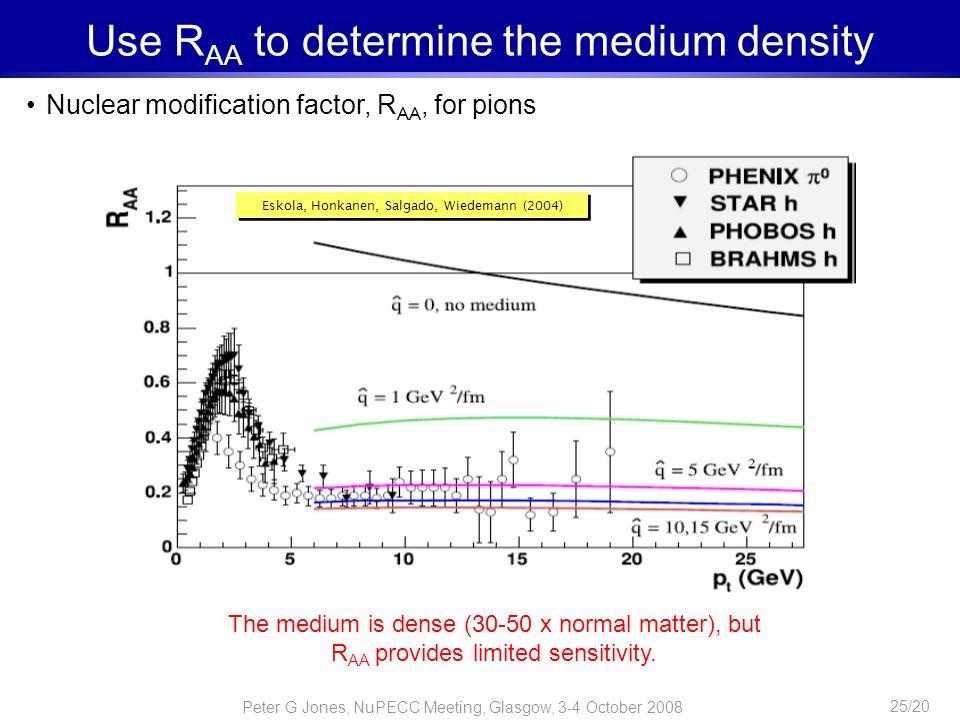 Use RAA to determine the medium density