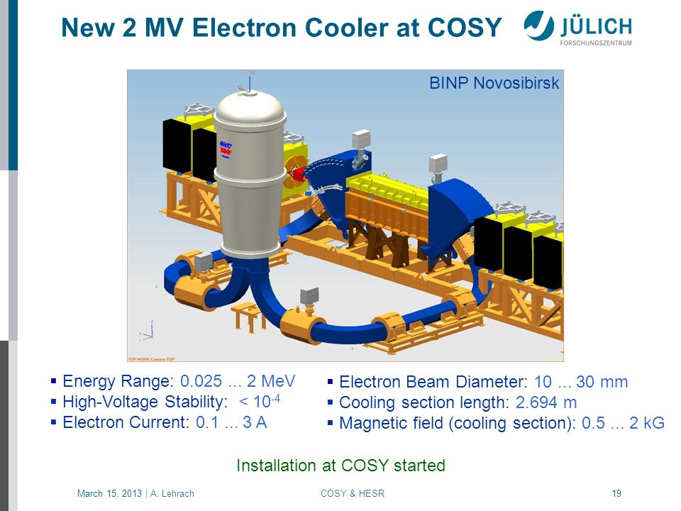 New 2 MV Electron Cooler at COSY