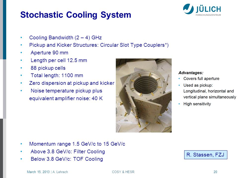 Stochastic Cooling System