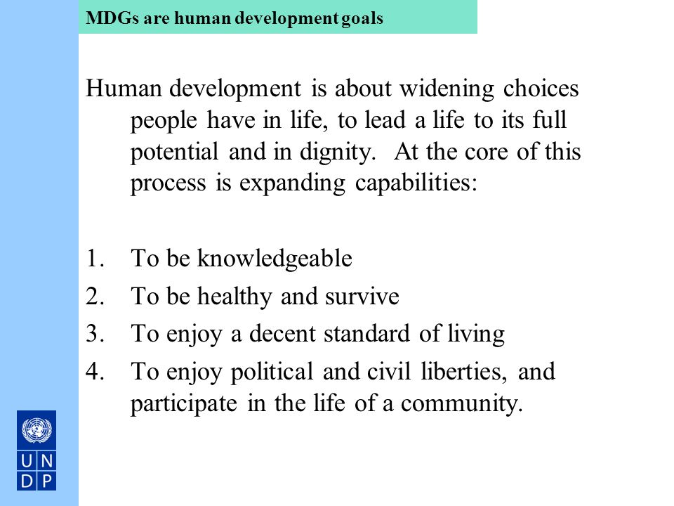 MDGs are human development goals