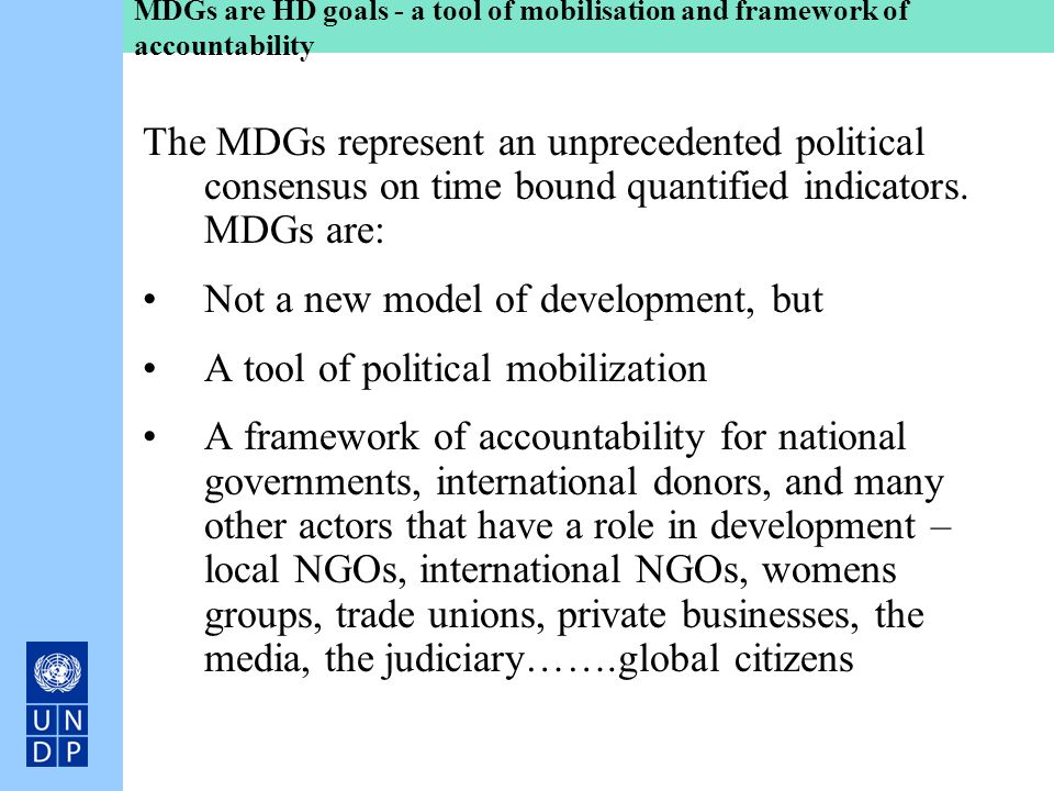 Not a new model of development, but A tool of political mobilization