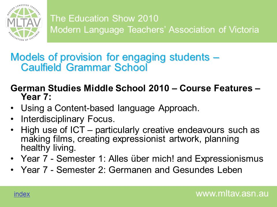Models of provision for engaging students – Caulfield Grammar School