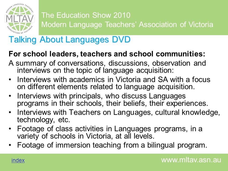Talking About Languages DVD