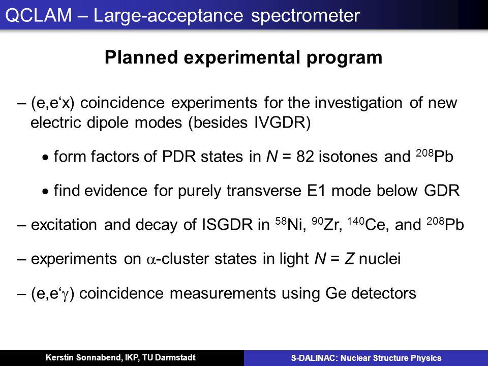 QCLAM – Large-acceptance spectrometer