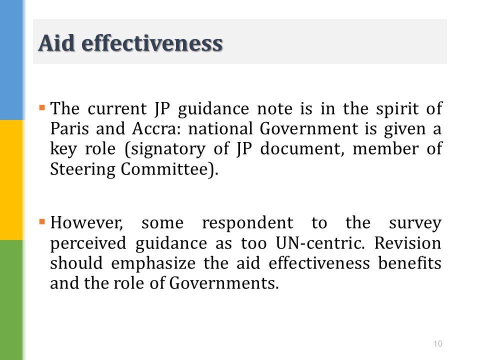 Aid effectiveness