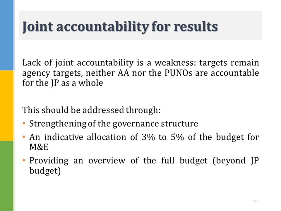 Joint accountability for results