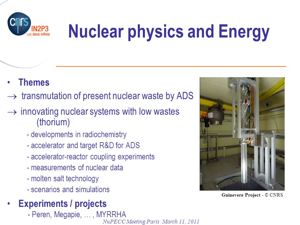 Nuclear physics and Energy