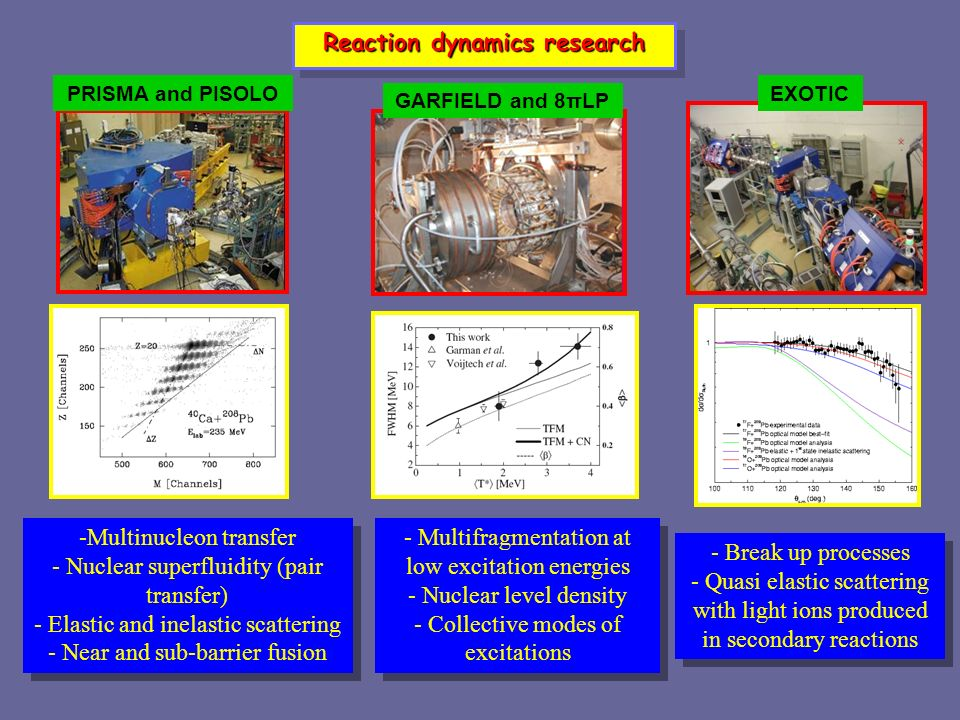 Reaction dynamics research