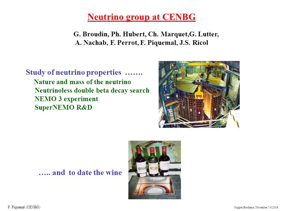 Neutrino group at CENBG