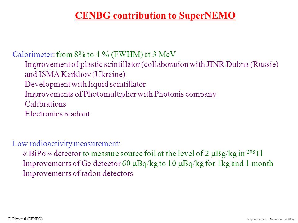 CENBG contribution to SuperNEMO