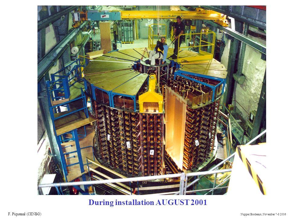 During installation AUGUST 2001