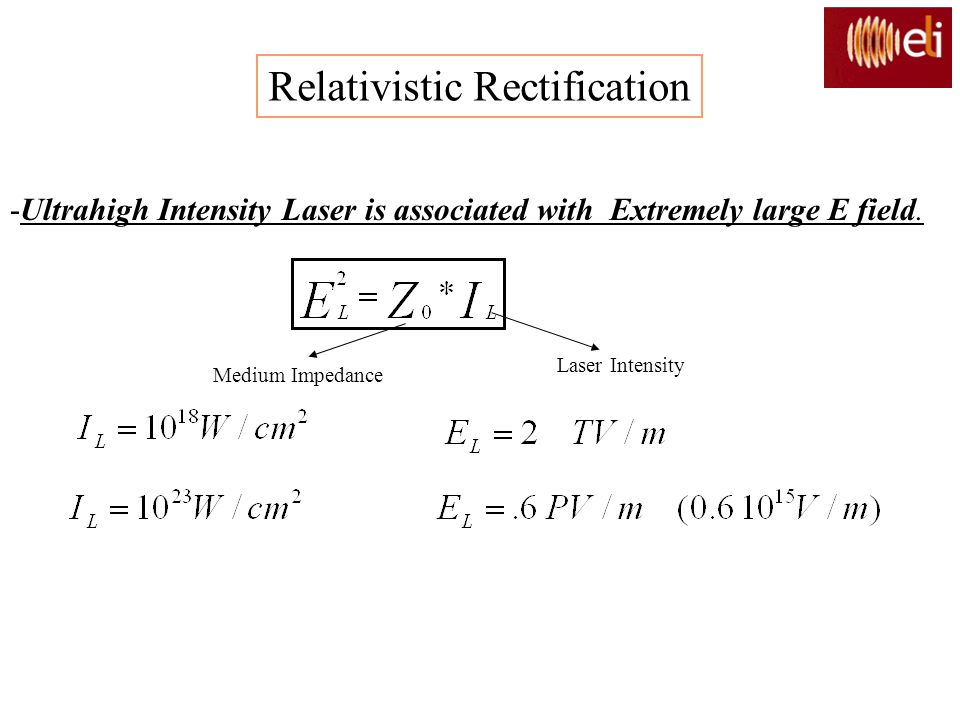 Relativistic Rectification