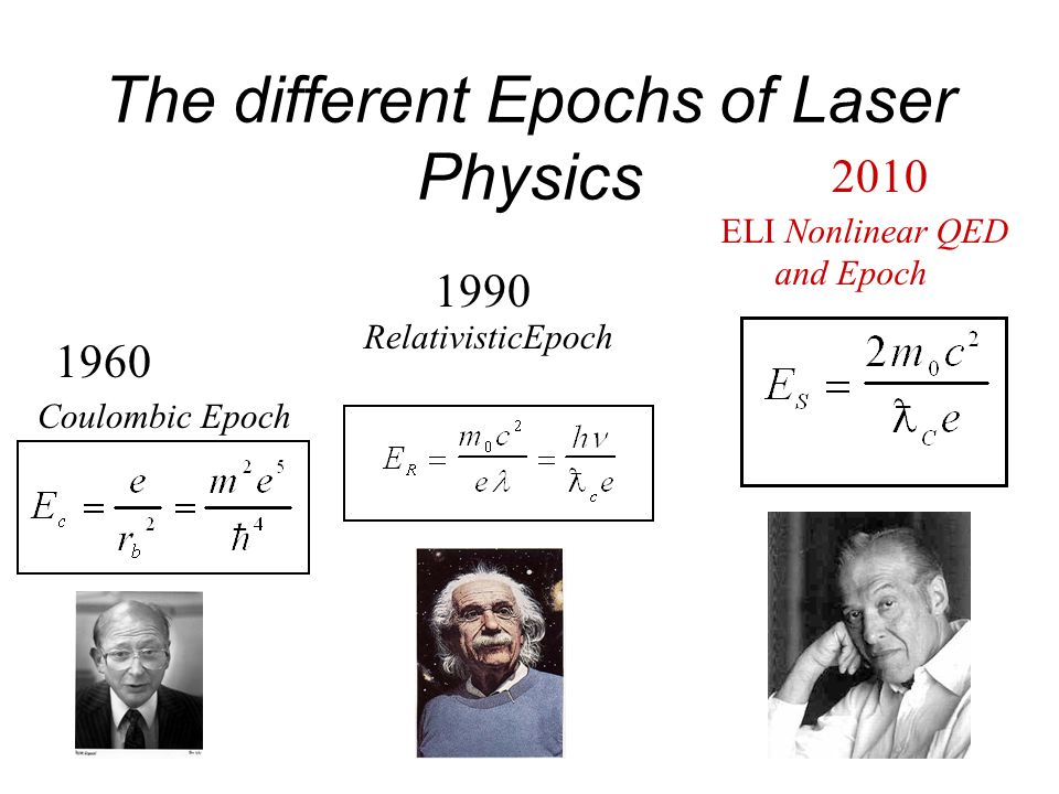 The different Epochs of Laser Physics