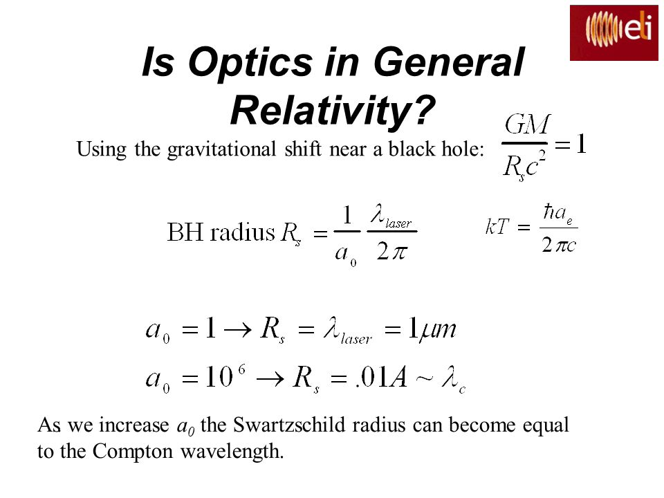 Is Optics in General Relativity