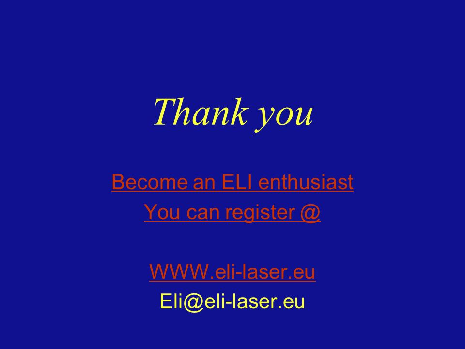 Become an ELI enthusiast