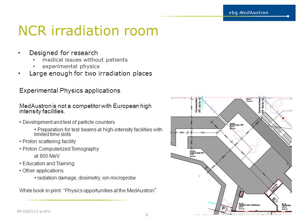 NCR irradiation room Experimental Physics applications