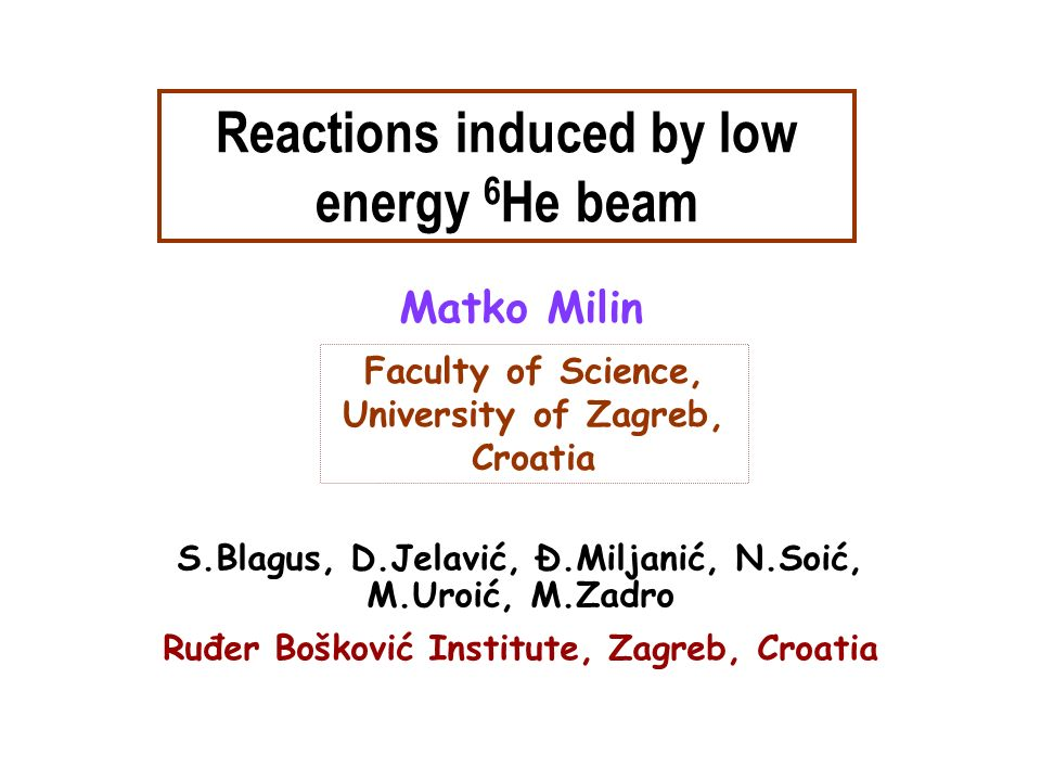 Reactions induced by low energy 6He beam