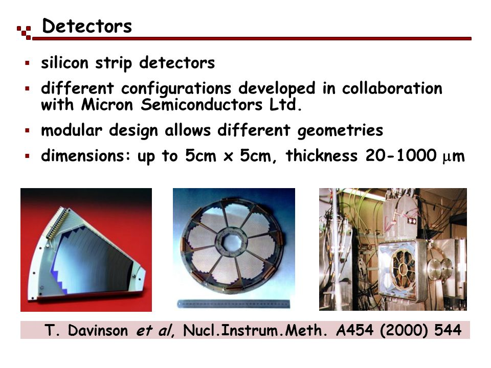 Detectors silicon strip detectors