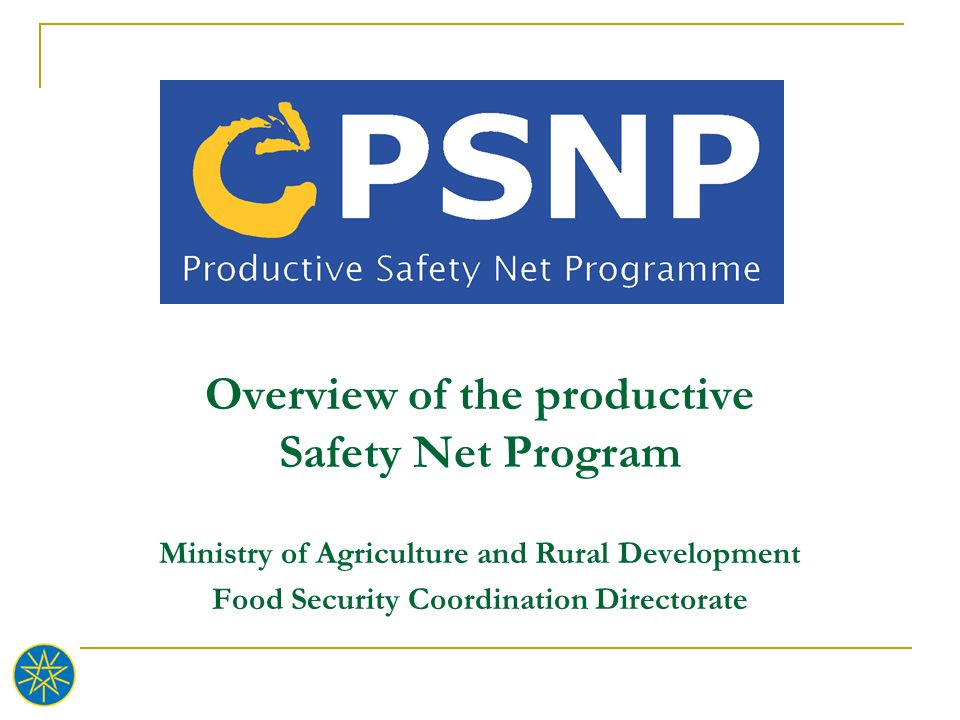 Overview of the productive Safety Net Program