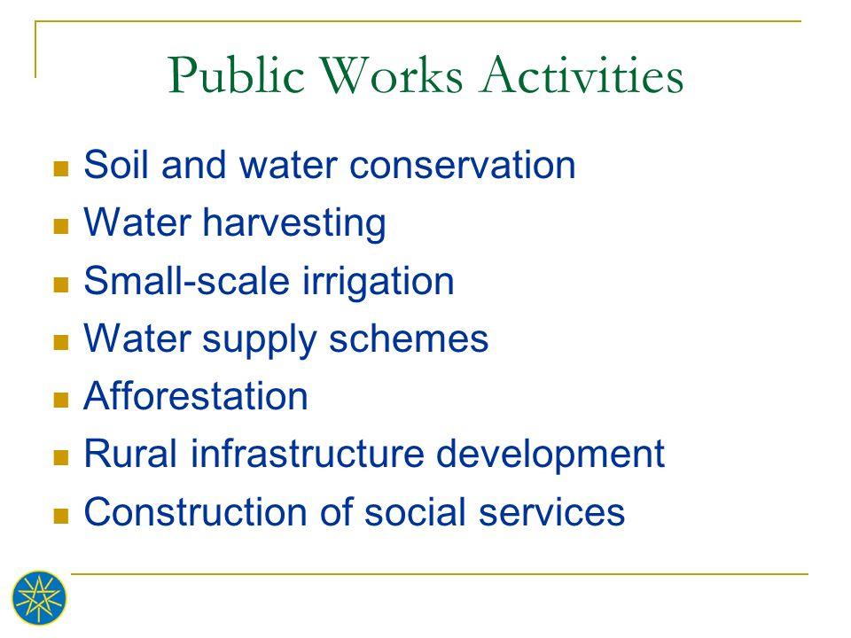 Public Works Activities