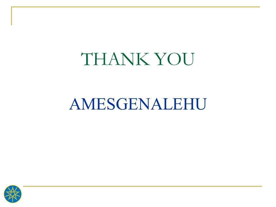 THANK YOU AMESGENALEHU