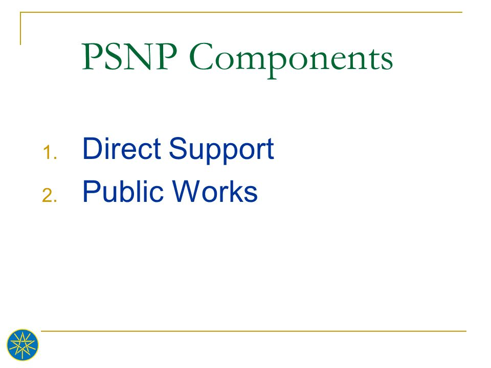 Direct Support Public Works