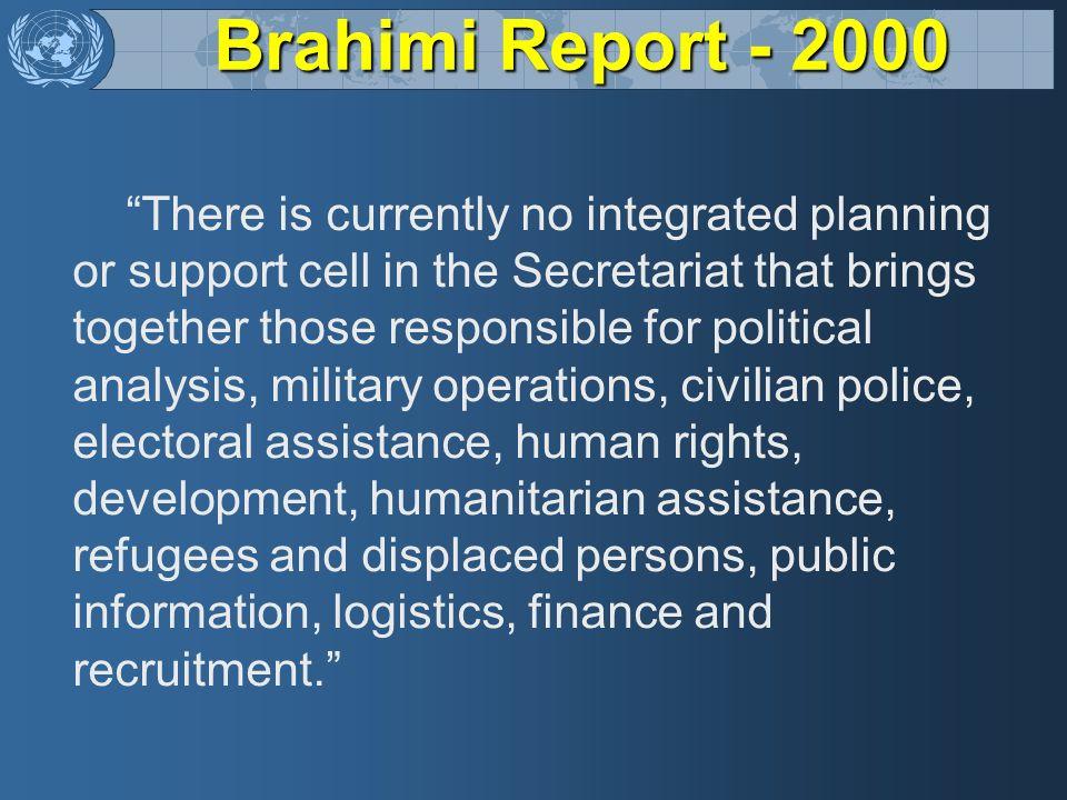 Brahimi Report - 2000