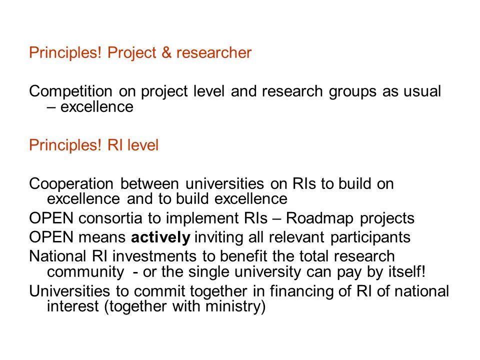 Principles! Project & researcher