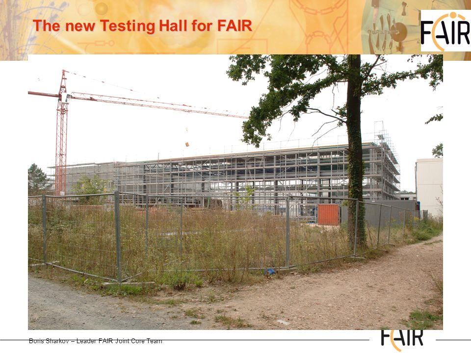 The new Testing Hall for FAIR