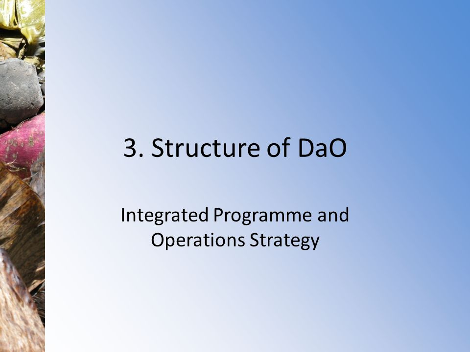 Integrated Programme and Operations Strategy