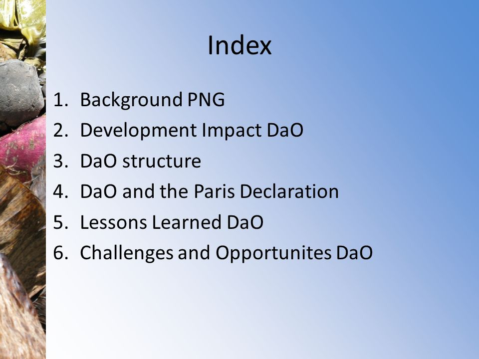 Index Background PNG Development Impact DaO DaO structure