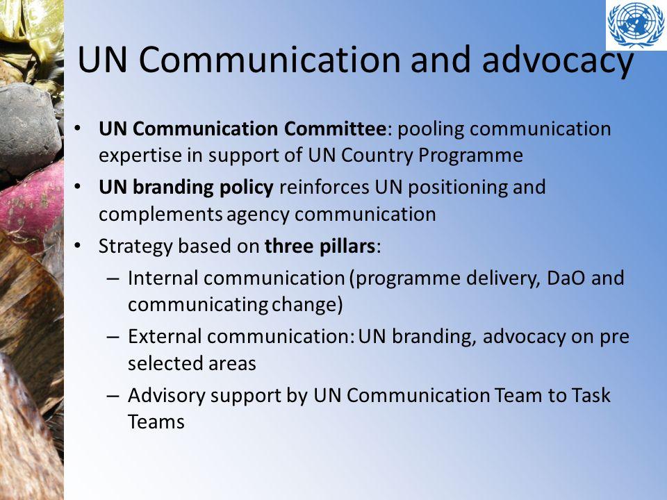 UN Communication and advocacy