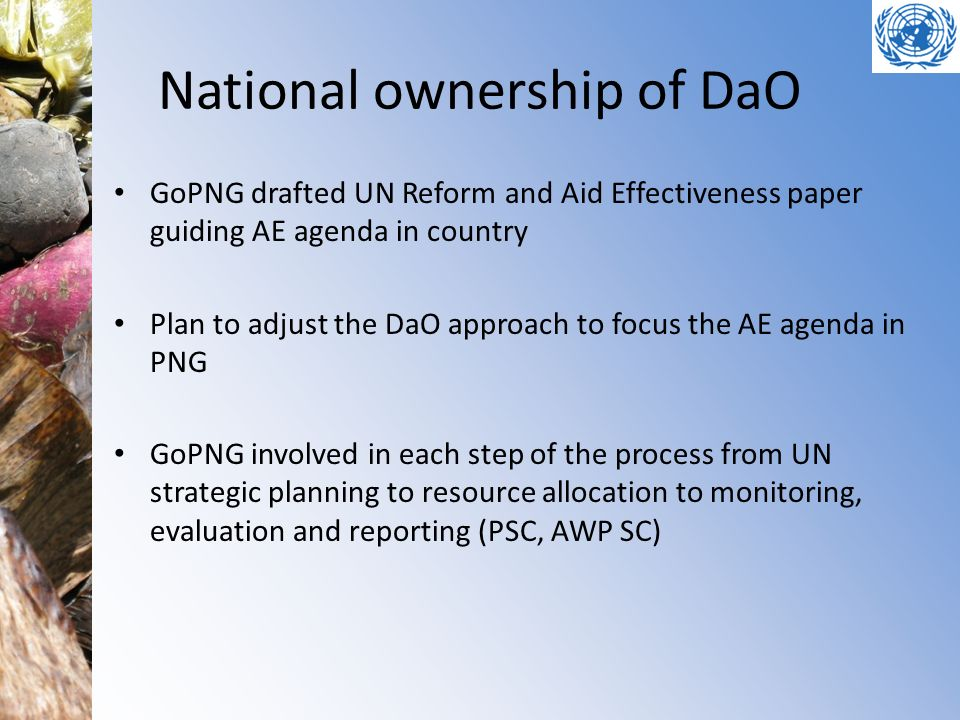 National ownership of DaO