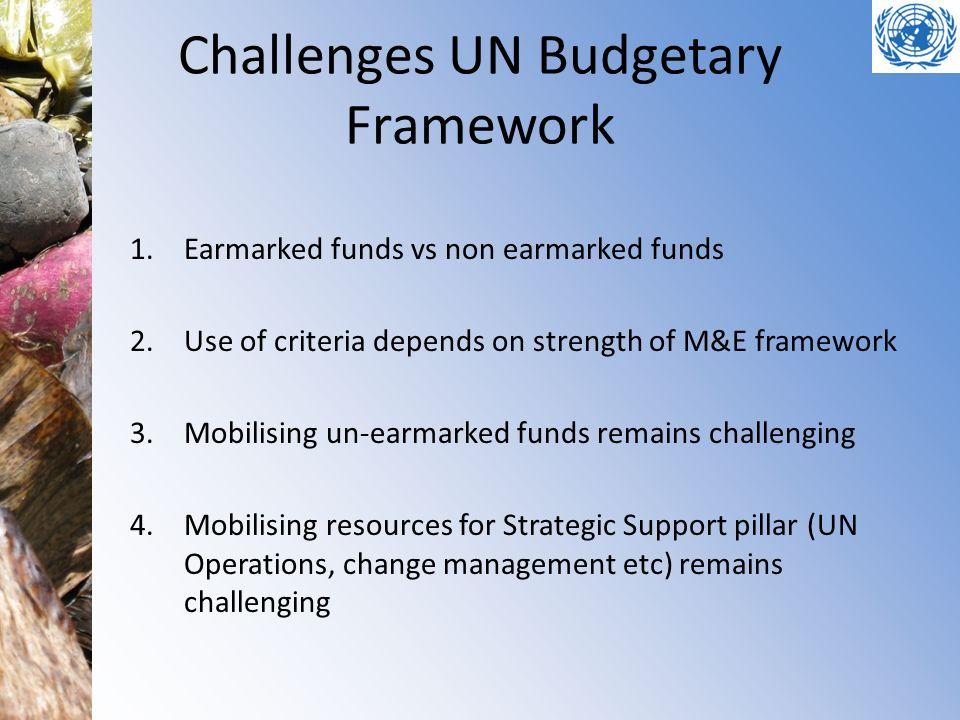 Challenges UN Budgetary Framework