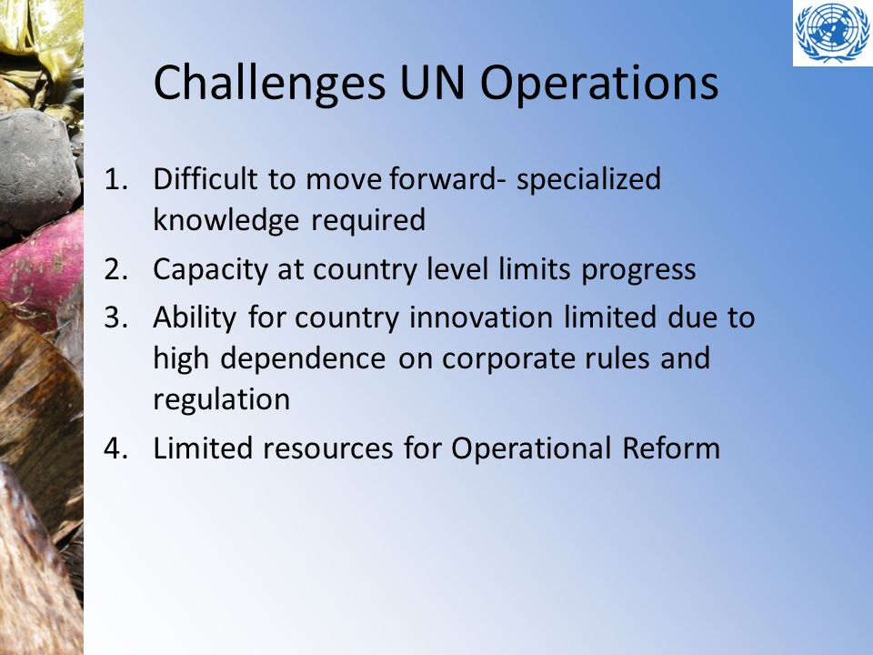 Challenges UN Operations