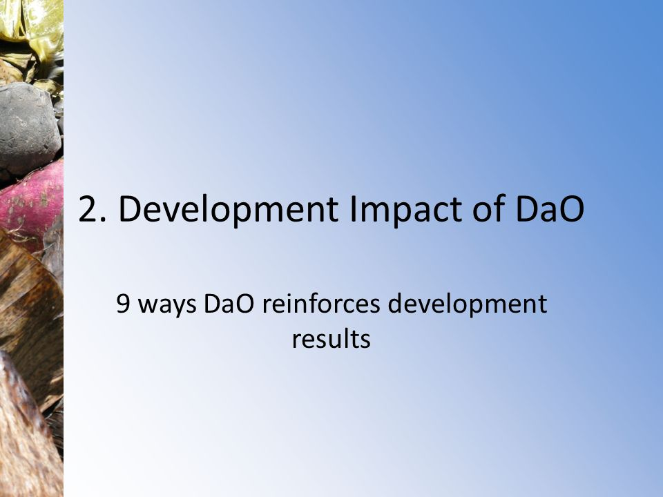 2. Development Impact of DaO