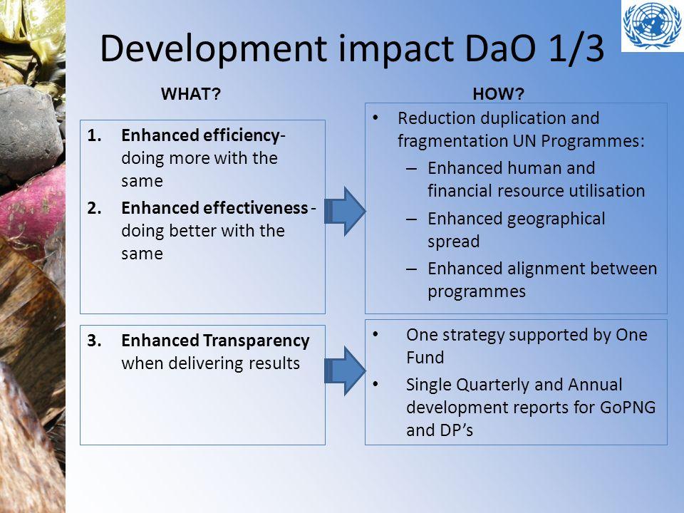 Development impact DaO 1/3
