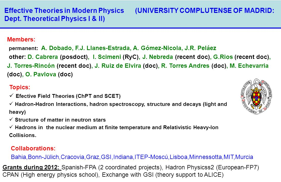Dept. Theoretical Physics I & II)‏