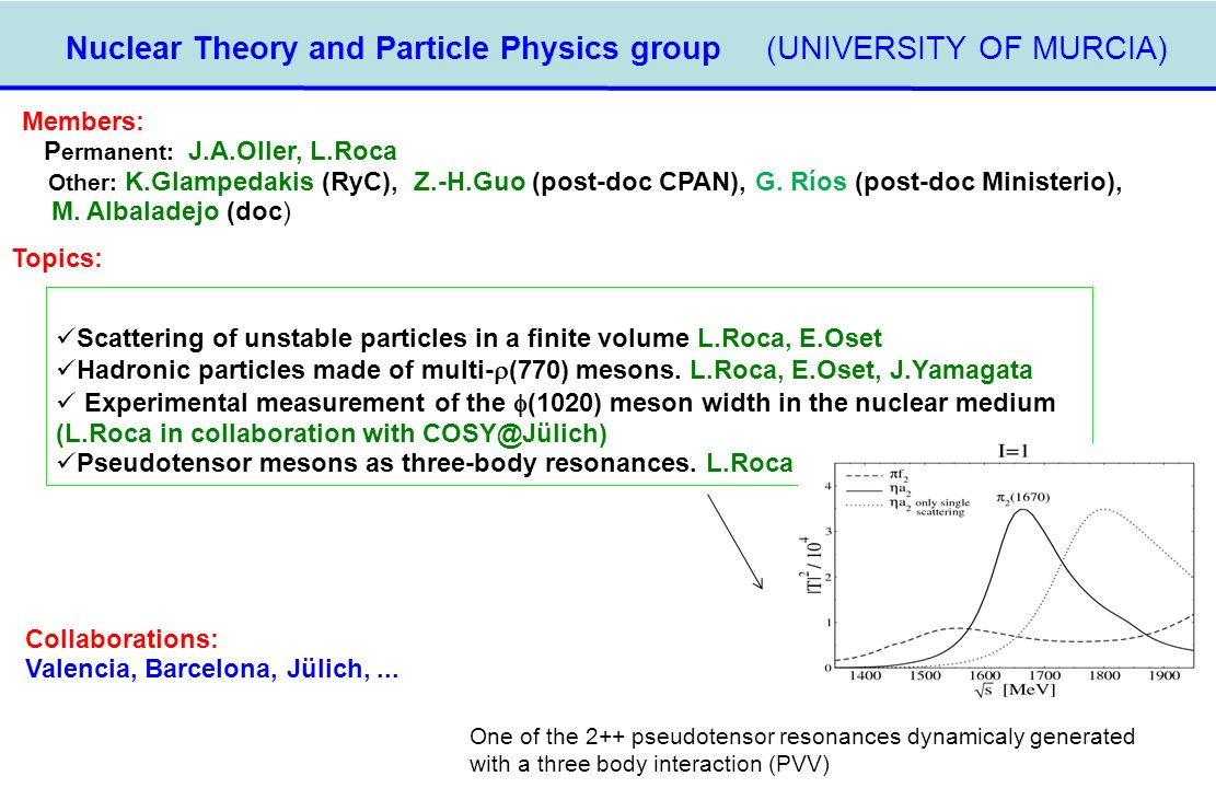 Nuclear Theory and Particle Physics group (UNIVERSITY OF MURCIA)‏