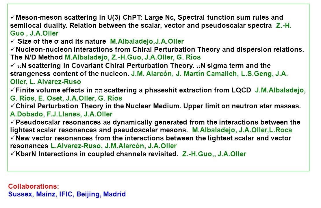 Meson-meson scattering in U(3) ChPT: Large Nc, Spectral function sum rules and semilocal duality. Relation between the scalar, vector and pseudoscalar spectra Z.-H. Guo , J.A.Oller